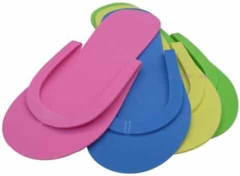 de621c55b2f JOVANA 36 Pair Disposable Foam Pedicure Slippers Multi Color Flip Flop  Salon Nail Spa (Colors