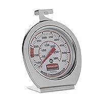 Rubbermaid Commercial Products Horno de lectura instantánea de acero inoxidable, parrilla /ahumador, termómetro de monitoreo, para uso en la cocina (FGTHO550)