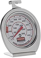 Rubbermaid Commercial Products Stainless Steel Instant Read Oven/Grill/Smoker Monitoring Thermometer, for Kitchen Use...