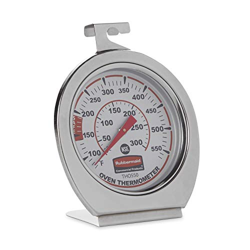 Rubbermaid Commercial Products Stainless Steel Instant Read Oven/Grill/Smoker Monitoring Thermometer, for Kitchen Use (FGTHO550) from Rubbermaid Commercial Products