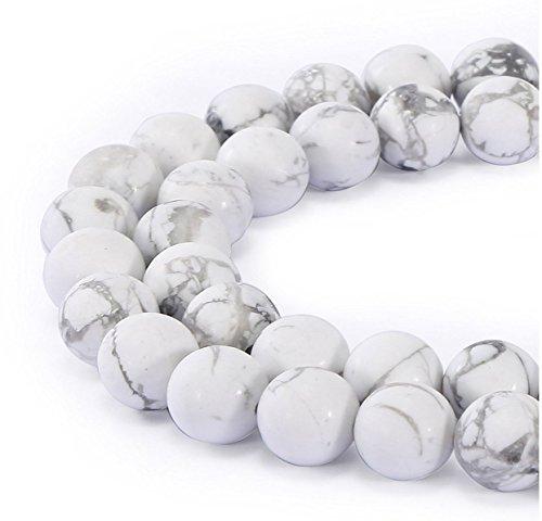 Howlite Natural Gemstone Beads - AAA Natural Howlite Gemstone 6mm Loose Round Beads Spacer Beads 15.5