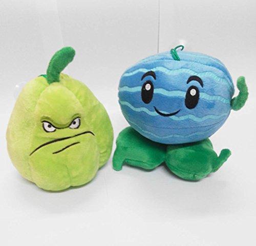 Plants Vs Zombies Series Plush Toy 2pcs Set - Winter Melon 18cm/7inch and Squash 15cm/6inch