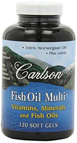 Карлсон Labs Рыбий жир Multi, Витамины Минералы и рыбные масла, 120 Softgels