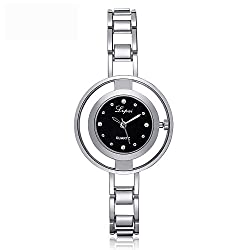 Women Quartz Watch,ODGear Ladies Cheap Mini Wrist Watch Rhinestone Bracelet NW48 (Sliver B)