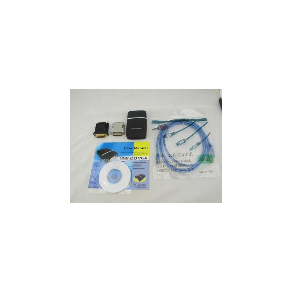 USB 2.0 to DVI/VGA/HDMI FULL HD 1080P Adapter External Video Card