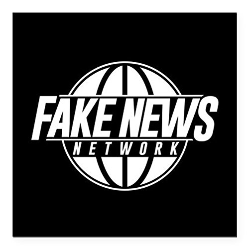 CafePress - Fake News Network Square Car Magnet 3