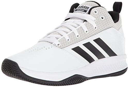 Adidas 1 Basketball - adidas Men's CF Ilation 2.0, White/Core Black/Grey One, 10.5 4E US