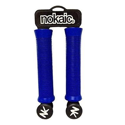 Puños Grip NOKAIC Modelo Azul para Patinetes, Scooters, BMX ...
