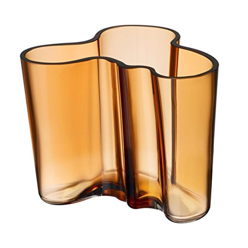 Iittala Alvar Aalto Collection Vase, Flower Vase, Indoor Vase, Table Vase, Glass, Desert, 12 cm, 1015407 - Iittala Aalto Flower Vase