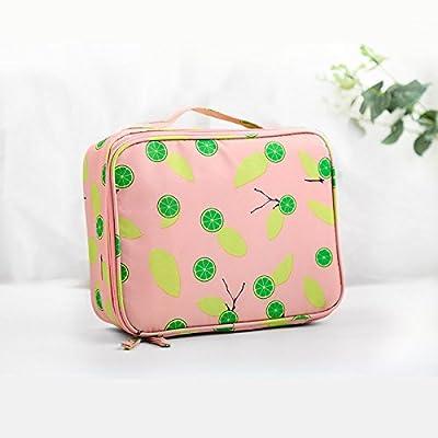 LULANVoyage en plein air pochette portable sac cosmétique grand hommes et simple petit voyage imperméable femme sac de lavage ,24*9*18cm, le toner d'une orange