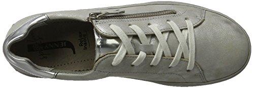 Jenny Dublin-Ang, Zapatos de Cordones Derby para Mujer Weiß (Cloud,silber)