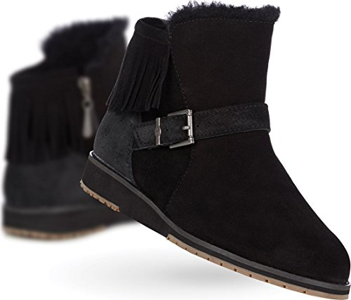 UK 7 Oxley Wool W11282 Collection Black Boots Australia Women's Merino Emu Beach apnfPvRwxq
