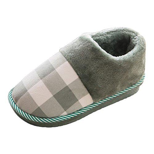 Mantener para casa en mujer Zapatillas cálidas el mujer interior zapatillas lana Eastlion de verdes de para Zapatillas y 8ACdCwq