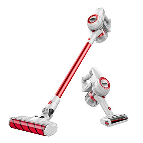 JIMMY Cordless Stick Vacuum Cleaner with 2 Motorized Brushes – 400W Digital Motor – 125AW/20Kpa Suction Power – Rechargeable Lithium Battery – Lightweight Handheld Vac JV51 2019