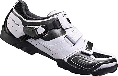 Shimano E-SHM089W, Unisex-Erwachsene Radsportschuhe - Mountainbike, Weiß (White), 39 EU