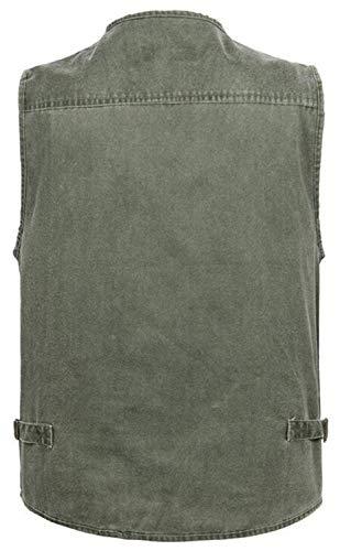 Al Sólido Ligera Color con Jeans Camiseta De Bolsillo Fashion Aire Saoye Transpirable Abrigos Chaleco Chaleco Chaqueta De Multi De Clásico De Libre Hombre para Ropa Grau Chaqueta w0xfOqA
