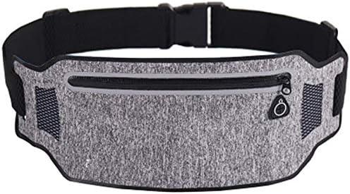 gdangel Running Waist Pack Sports Pockets Running Fitness Pockets Color Frame Flat Belt Outdoor Portable Storage Bag Ultra-Mince Small Pockets//Black