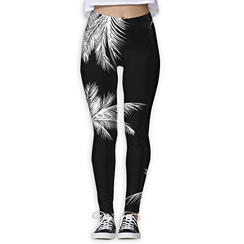 5650f69f37beb LeYue Women's Thick Coconut Palms Yoga Pants Performance Activewear Workout  Leggings Sports Pants Size(S