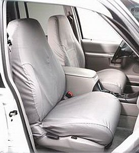 Covercraft SS7432PCGY SeatSaver Second Row Custom Fit Seat Cover for Select Ram 1500 Models - Polycotton (Grey) ()