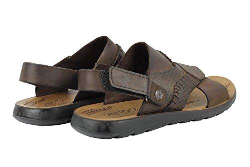 Mens Real Leather Walking Sandals Black Brown Beach Mules Back Adjustable Strap Size 6 7 8 9 10 11 Brown 7yGwwii
