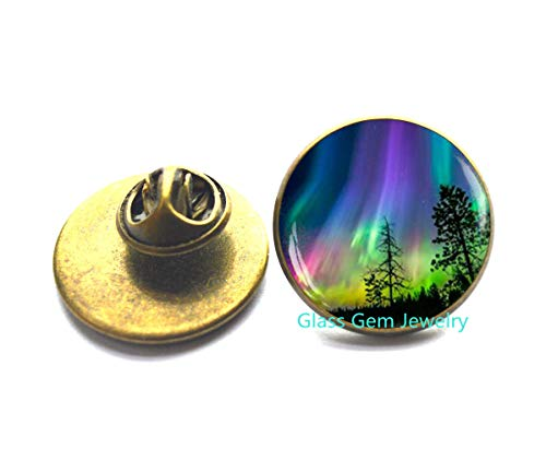 Northern Lights Pin, Northern Light Jewelry, Light Brooch, Aurora Borealis Brooch, Aurora Brooch,Q0045 (Y2)]()