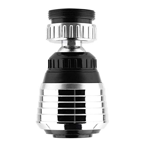 360-Degree Swivel Kitchen Sink faucet Aerator with 2 Function Swivel Sprayer for Kitchen, Bathroom Faucet (Chrome) ()