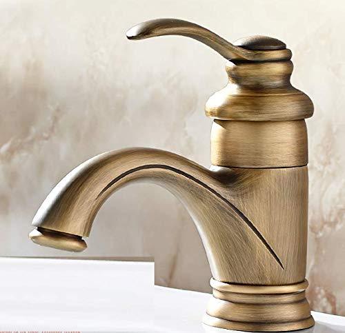 Antique Faucet Basin Mixer Copper Bathroom Retro wash Basin Sink Faucet hot and Cold