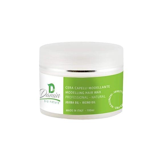 Damin Bio Nature Pomada Pelo Natural Crema fijación media y brillo suave para moldeado del cabello Hombre Mujer Niños y Infantil 100ml