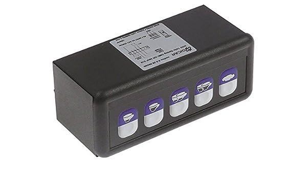 Expobar Spring SMD GR NKP S10 - Unidad de teclado para cafetera Megacrem (5 teclas, sin conexión de sonda, 1 d5e, 45,5 mm): Amazon.es: Industria, empresas y ciencia