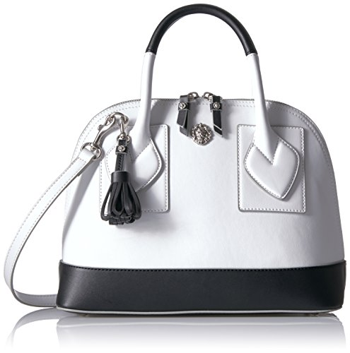 anne-klein-billie-small-dome-satchel-optic-white-black