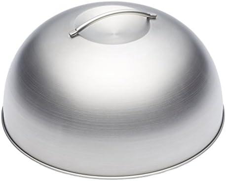 Kitchencraft Masterclass – Tapa con Forma de cúpula, para cocinar al Vapor, para fundir Queso y Hacer Hamburguesas, metálica, 22,5cm
