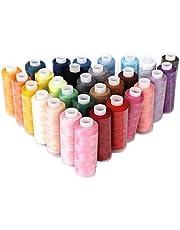 CHENTAOCS La Nuevo DIY 30 Carretes Colores Mezclados Herramienta de Costura 100% poliéster Hilos de Coser del Bordado Que acolcha for Todo Uso Fácil de Usar
