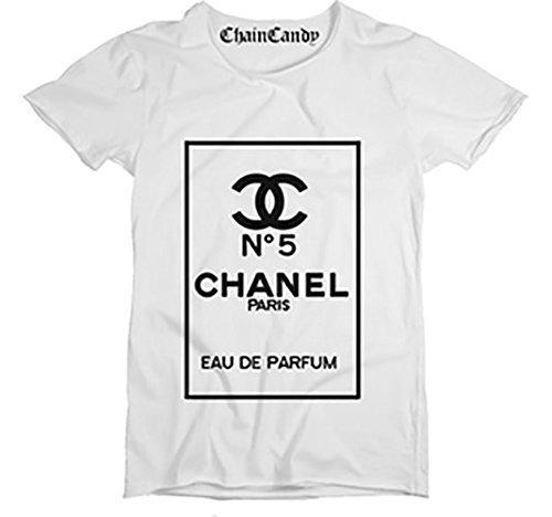 Designer Purfume T shirt- White/Black