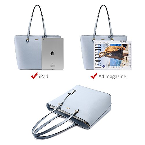 Top Women Shoulder Light Gorgeous Bag Handbags Tote Set Ladies Handle Bag PCS Blue Ladies 3 for Handbag qxwR1Cz