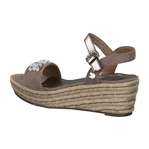 Tom Tailor Women's 4895802 Ankle Strap Sandals Grey (Taupe) aqkSC9ri