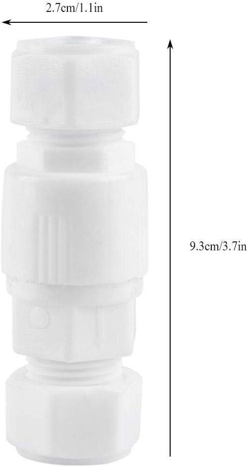 Wolfgo La v/álvula de retenci/ón de agua-2pcs 1//2 Plastic Hembra y Macho de Rosca V/álvula de retenci/ón V/álvula de retenci/ón oscilante