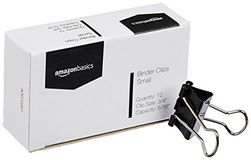 AmazonBasics Binder Clips - Small, 12 per Pack, 12-Pack Photo #4