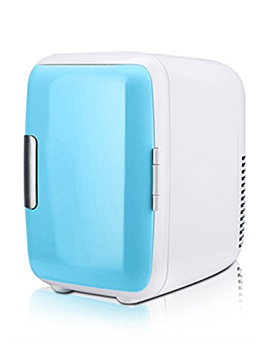 GEAMBO 4L 12V Portable Car Cooler/Warmer Electric Fridge Car Small Refrigerator for Travel Mini Size Automotive Appliances(Blue) by GEAMBO