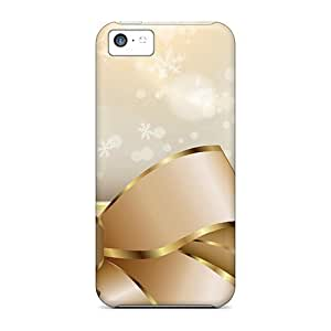 LJF phone case New Diy Design Tied In Gold Ribbon For ipod touch 4 Cases Comfortable For Lovers And Friends For Christmas Gifts