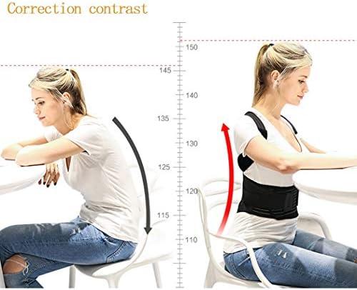 男性と女性のための姿勢を改善するためのハングバック姿勢、姿勢ブレースの鎖骨サポートサポート調節可能なバックショルダーランバーウエストサポートベル(XL) (Size : Xxl)
