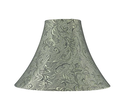 Aspen Creative 30081 Transitional Bell Shape Spider Construction Lamp Shade in Green, 16