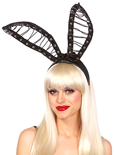 Leg Avenue Women's Oversized Bunny Ears Costume Accessory, Black, One Size (Black Sexy Costumes)