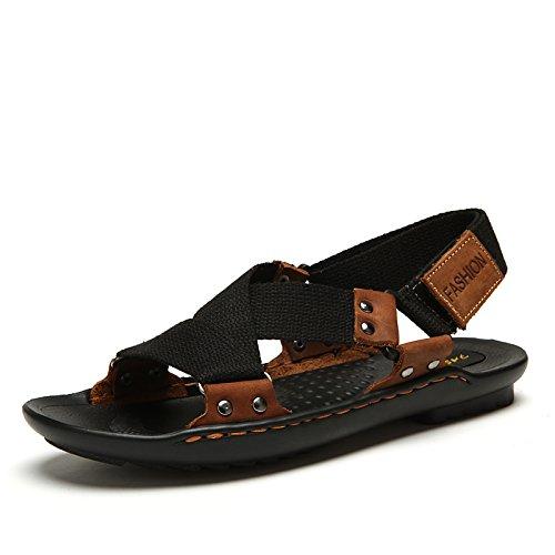 Xing Lin Sandalias De Hombre Verano Sandalias De Lona Transpirable Zapatos Marea De Jóvenes Varones black