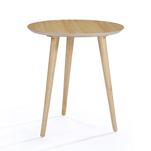 - Evangeline Finished Wood End Table w/Faux Wood Overlay (Natural Oak)