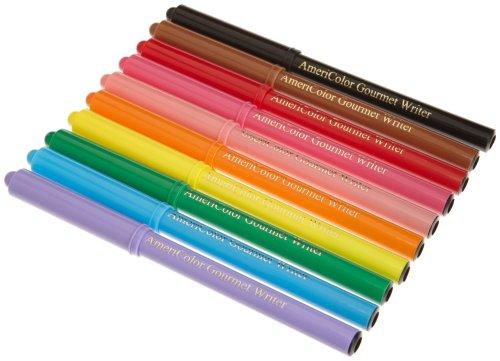Gourmet Writer Food Decorator Pens, Assorted Colors, Set of 10
