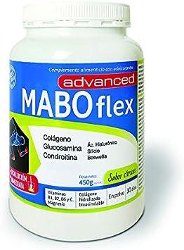MABOflex Advanced 450 g (30 días) - Colágeno Hidrolizado en Polvo con Acido Hialurónico Magnesio Vitamina B1 B2 B6 Glucosamina Condroitina - Sabor ...