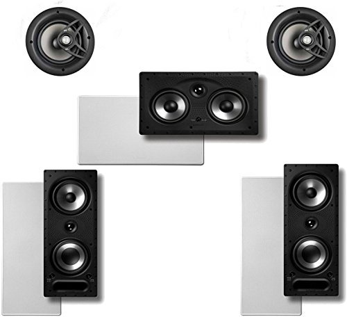Price comparison product image Polk Audio Vanishing 5.0 High Performance In-Wall / In-Ceiling Speaker System (2-265RT,  2-V60 & 1-255CRT)