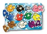 8 Pack MELISSA & DOUG FISH COLORS MIX N MATCH PEG PUZZLE