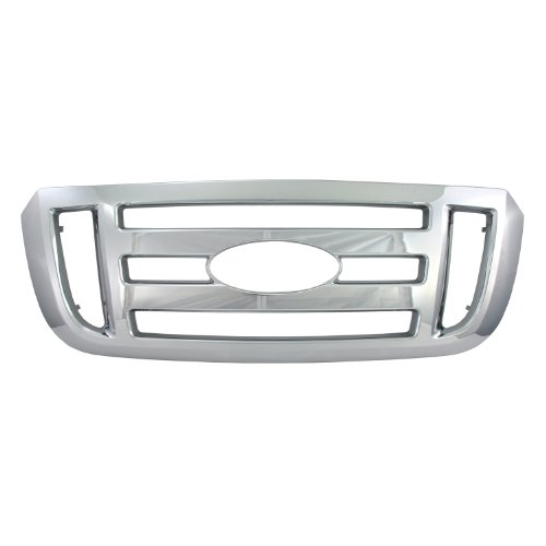 Bully  GI-37 Triple Chrome Plated ABS Snap-in Imposter Grille Overlay, 2 Piece