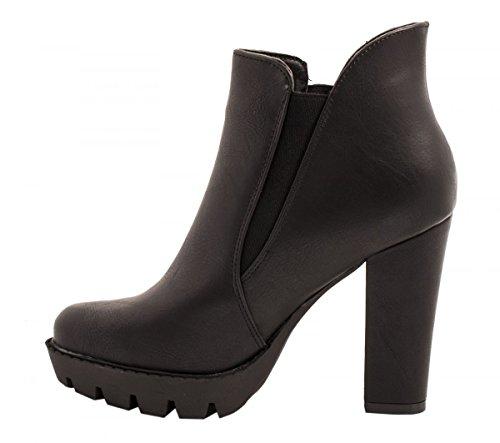 negro Elara Mujer clásicas botas botas Elara wXIzq8xdn